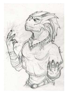Dragonborn monk
